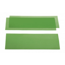CIRE EN PLAQUE calibrée verte Plaques grainées